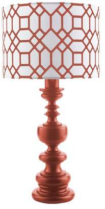 Surya Wilson Indoor/Outdoor Table Lamp by Surya, Red/Red Print Shade