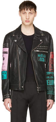 Diesel Black Leather L-Hater-Ed Jacket