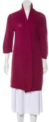 Max Mara Cashmere Open Front Cardigan Pink Cashmere Open Front Cardigan