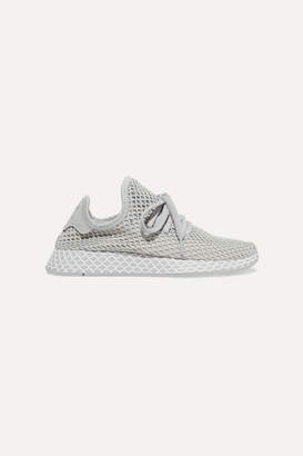 adidas Deerupt Runner Leather-trimmed Mesh Sneakers