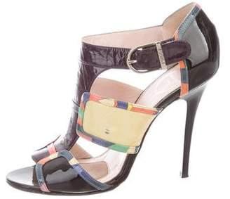 Emilio Pucci Patent Leather Sandals