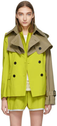 Sacai Yellow and Tan Blouson Jacket