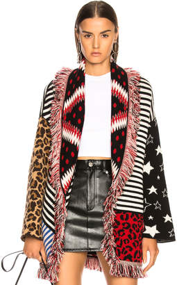 Alanui Crazy Stripes Oversized Lurex Jacquard Cardigan