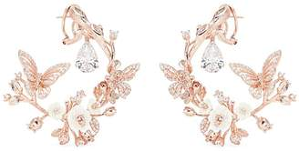 Anabela Chan 'Butterfly Garland' diamond 18k rose gold statement earrings