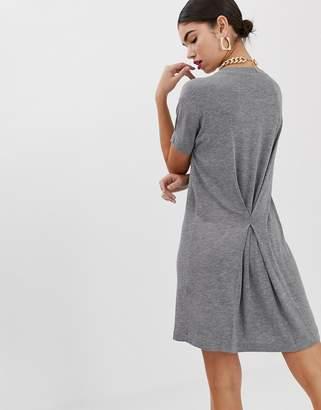 Asos Design DESIGN pinch back marl t-shirt dress