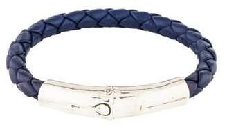 John Hardy Braided Leather Bamboo Bracelet