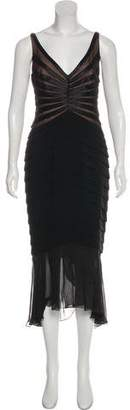 Carmen Marc Valvo Midi Evening Dress