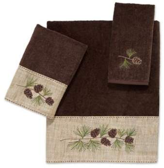 Pine Branch Hand Towel in Mocha