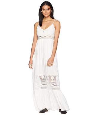 BB Dakota Kaia Midi Dress with Stripe Lace Insets