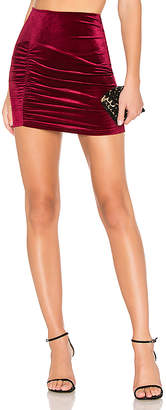 About Us Ellie Ruched Mini Skirt