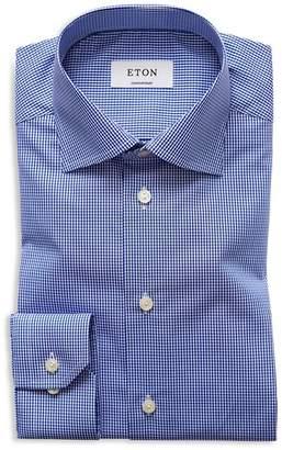 Eton of Sweden Mini Gingham Check Regular Fit Dress Shirt
