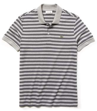 Lacoste Men's Regular Fit Striped Pima Cotton Interlock Polo