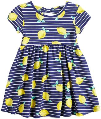 f49e360f8573f Carter s Toddler Girl Jumping Beans Printed Bow-Back Dress