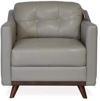 Apt2B Baker Leather Chair GREY