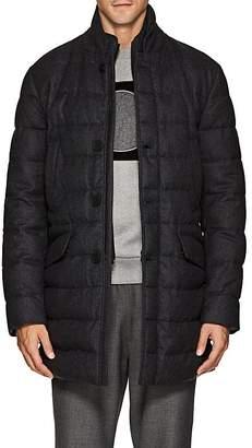 Moncler Men's Keid Down-Quilted Wool Flannel Coat