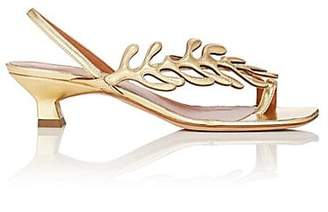 Derek Lam Women's Elise Metallic Leather Slingback Sandals - Gold, Or