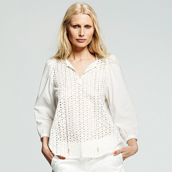 Peter Som for designation solid eyelet tunic - women's
