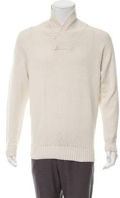 Loro Piana Shawl Collar Knit Sweater