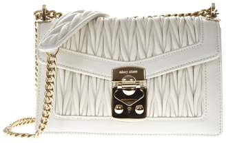 Miu Miu White Leather Shoulder Bag
