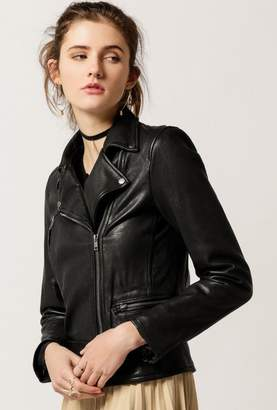 Azalea Genuine Leather Moto Jacket
