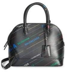Balenciaga Ville Leather Top Handle Satchel