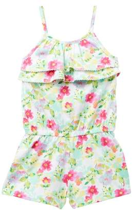 Nautica Floral Print Romper (Big Girls)