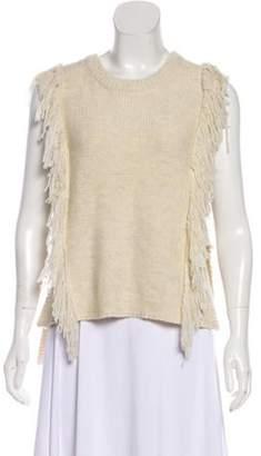 Intermix Sleeveless Knit Sweater Cream Sleeveless Knit Sweater