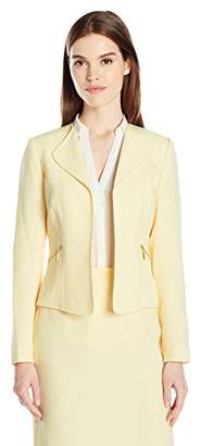 Tahari by Arthur S. Levine Women's Crepe Open Front Jacket with Zipper Pockets