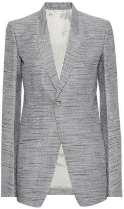 Rick Owens Cotton and silk-blend blazer