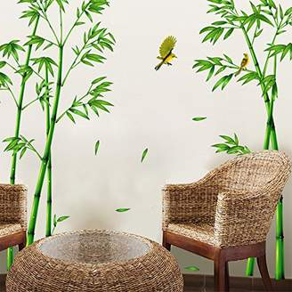 nikstoreinus Popular TV Setting Wall Room Sitting Room Sofa Decorate Wall Stickers Chinese Wind Stick Bamboo Forest Depths