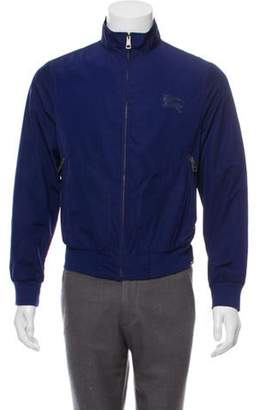 Burberry Equestrian Knight Device Zip-Up Jacket indigo Equestrian Knight Device Zip-Up Jacket