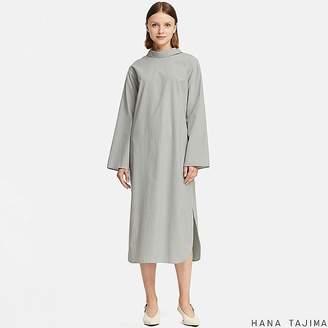 Uniqlo Women's Mock Neck Striped Long-sleeve Dress (hana Tajima)