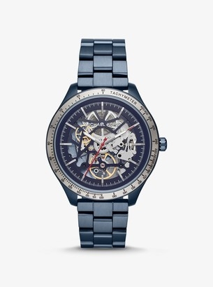 Michael Kors Oversized Merrick Blue-Tone Watch