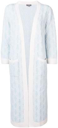 N.Peal longline cardi-coat