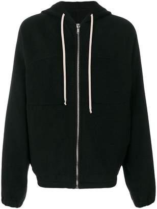 Rick Owens panelled hoodie