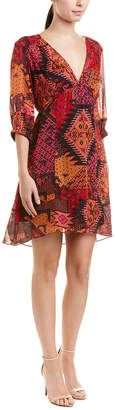Nanette Lepore Painted Desert Silk Shift Dress