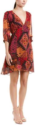 Nanette Lepore Painted Desert Silk Shift Dress