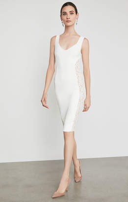 BCBGMAXAZRIA Lace Inset Bodycon Dress