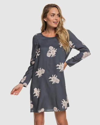Roxy Womens Seaside Sense Long Sleeved Printed Dress