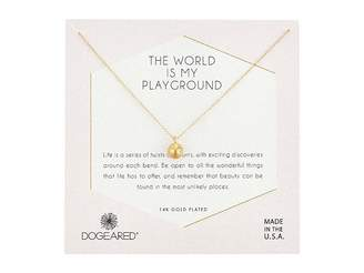 Dogeared The World Is My Playground, Sphere with Crystals Necklace