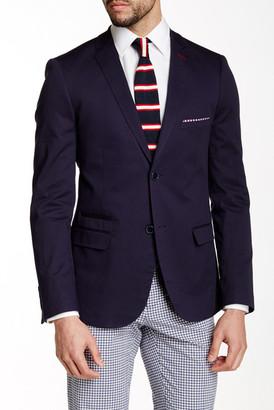 Paisley & Gray Blue Sharkskin Two Button Notch Lapel Slim Fit Blazer $99.97 thestylecure.com