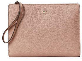 Kate Spade Polly Medium Leather Wristlet Wallet