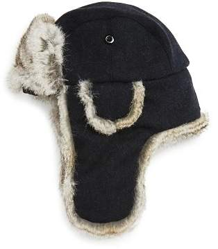 Bloomingdale's The Men's Store at Fur-Lined Tweed Aviator Hat - 100% Exclusive