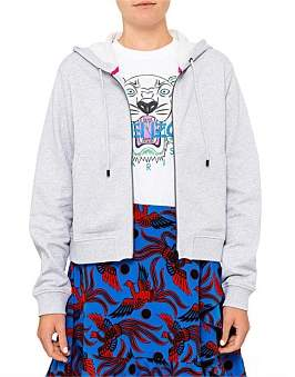 Kenzo Classic Tiger Light Molleton Zip Front Sweatshirt