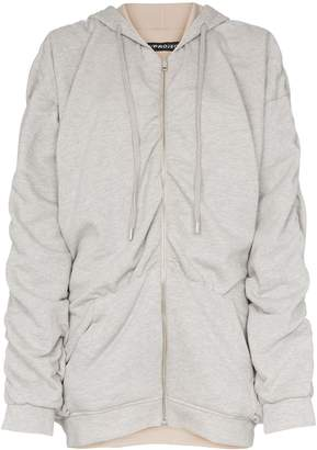 Y/Project reversible gathered detailing hooded jumper