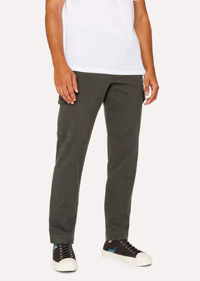 Paul Smith Men's Regular-Fit Dark Green Stretch-Cotton Pocket Pants