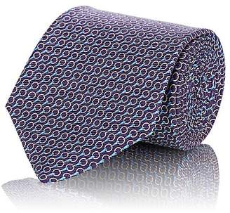 Ermenegildo Zegna Men's Interlocking-Ring-Print Silk Twill Necktie