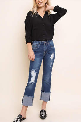 Umgee USA Distressed Bootcut Jeans