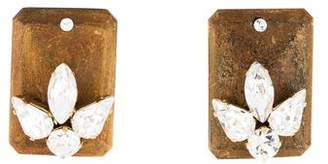 DSQUARED2 Wood & Crystal Rectangular Earrings