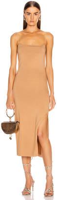 Enza Costa Strappy Side Slit Dress in Foundation | FWRD